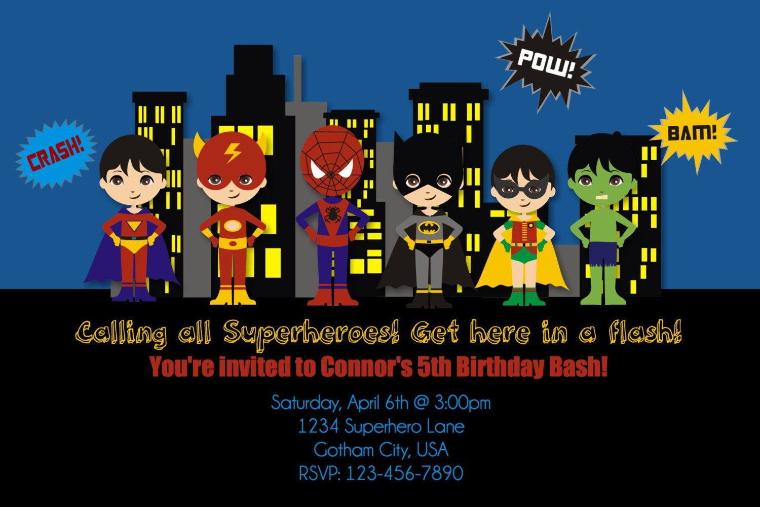 Spiderman Superhero Birthday Party Invitations – Bagvania FREE ...