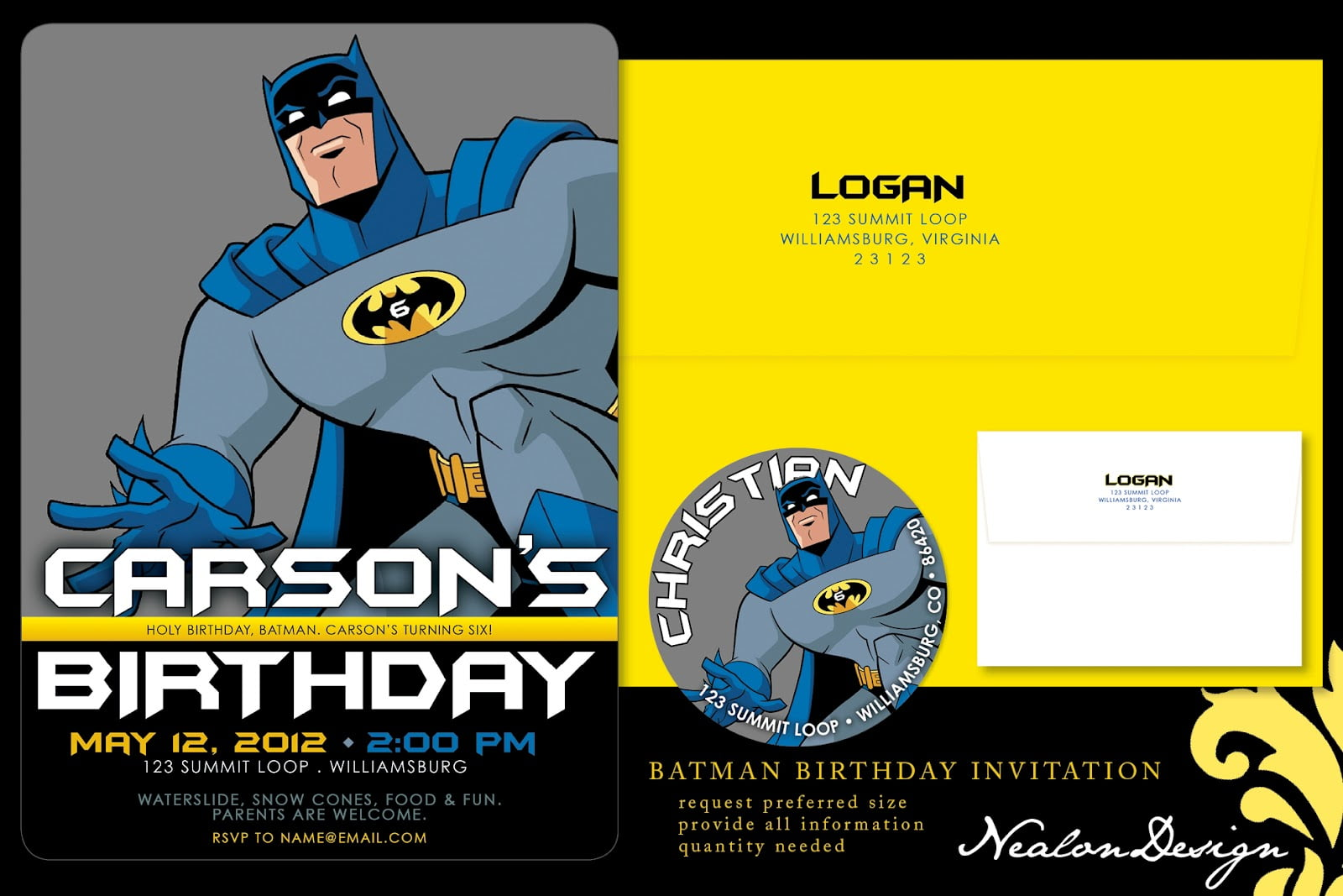 Template Batman Ideas FREE Printable Birthday Invitation Templates