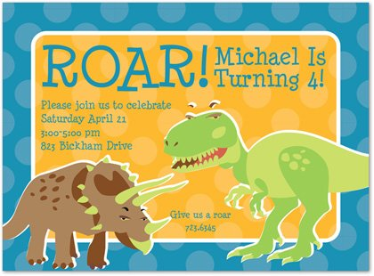 dinosaur birthday party invitations – bagvania free printable, Birthday invitations
