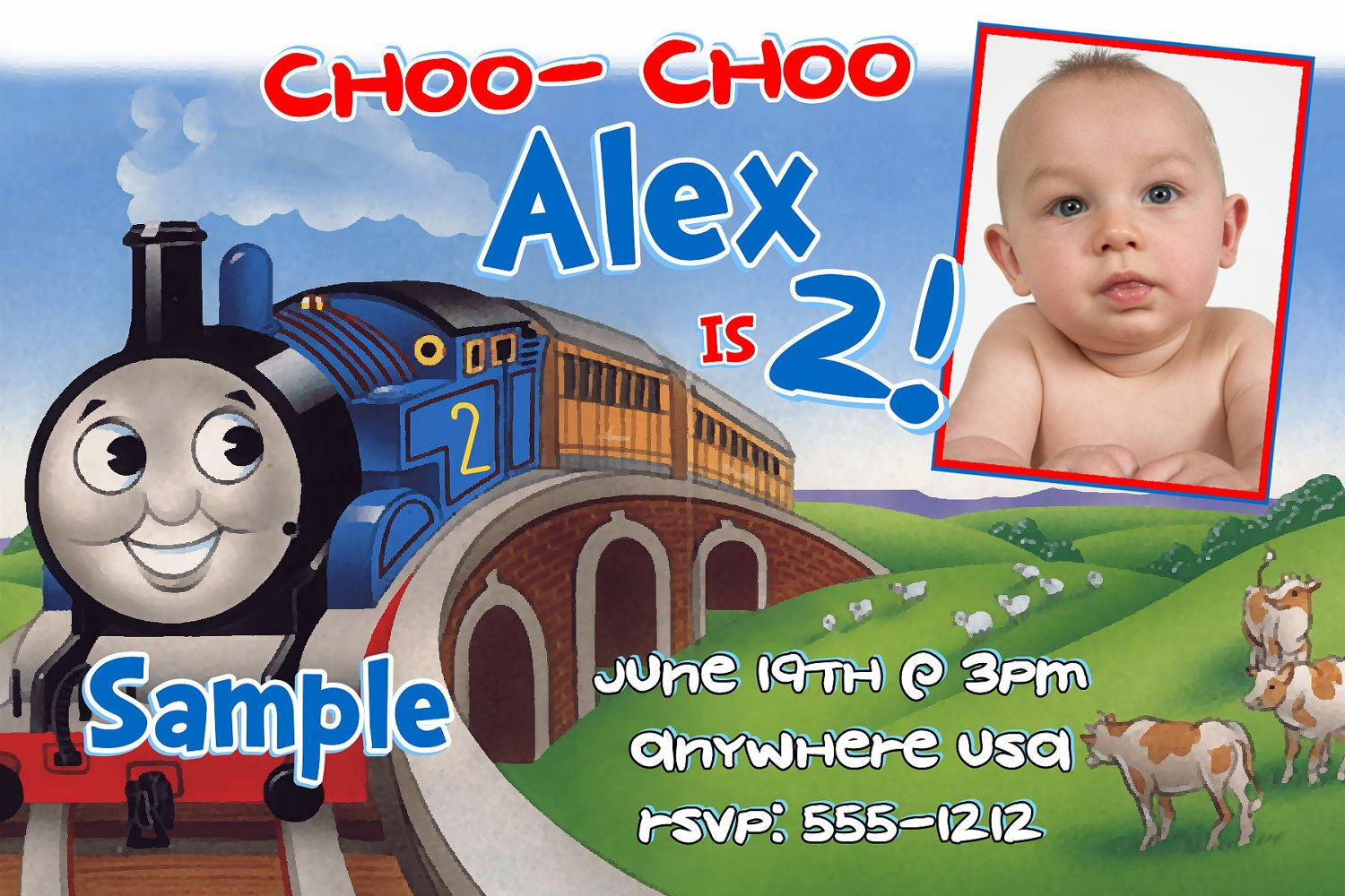 thomas the train birthday invitations ideas for kids – bagvania, Birthday invitations