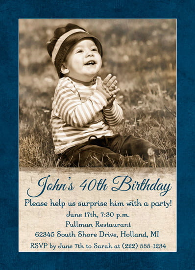 Oldies 40th birthday party invitation ideas