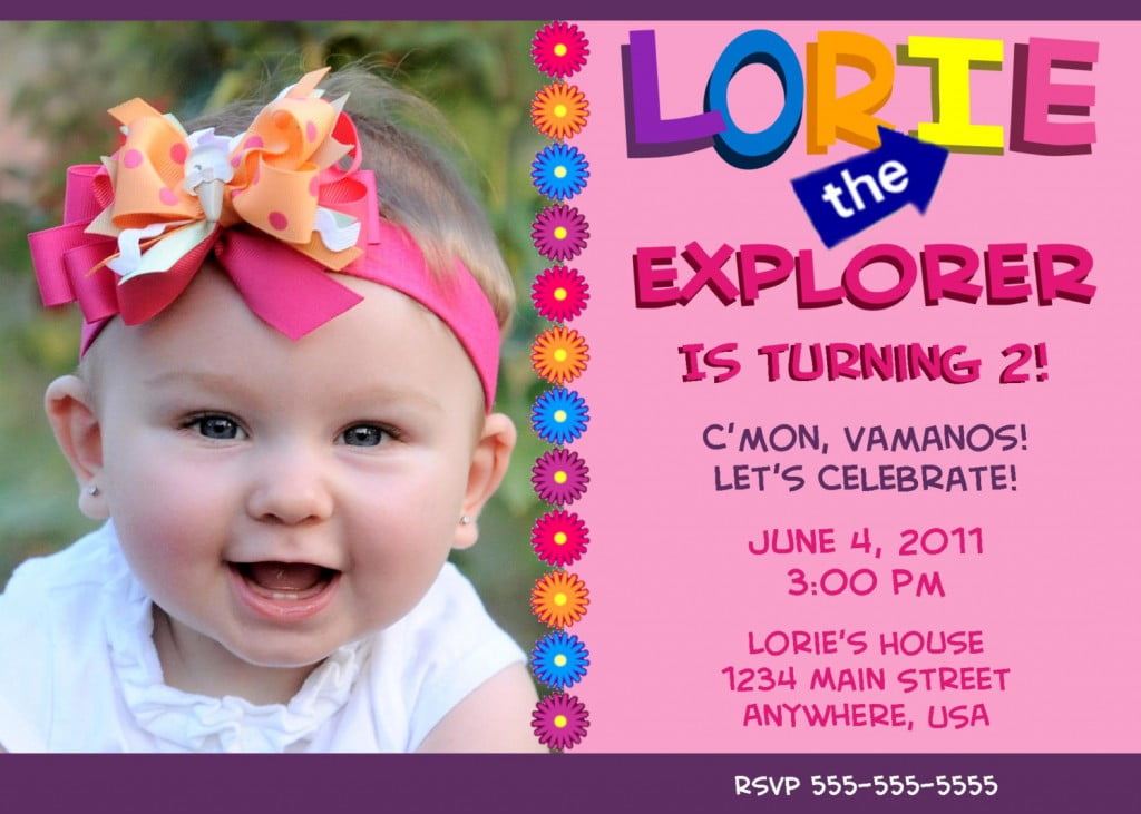 Dora Explorer Birthday Invitations Ideas – Bagvania FREE Printable ...