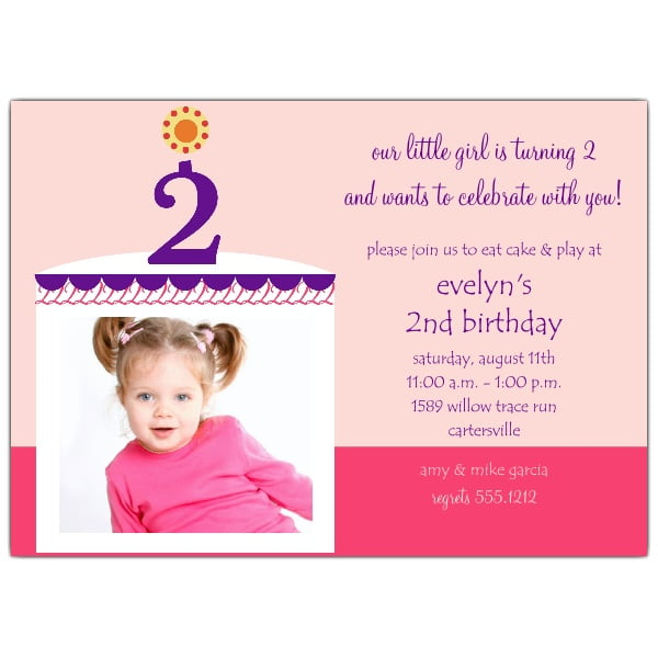 2nd Birthday Invitations Ideas for Kids – Bagvania FREE ...