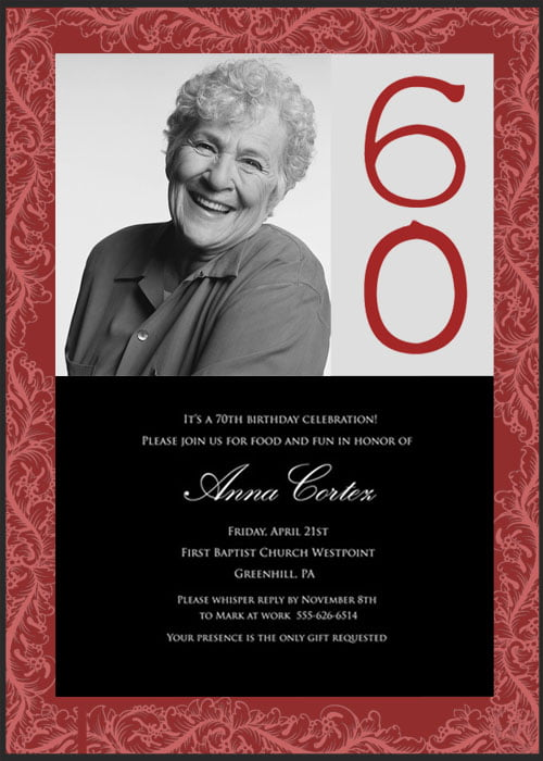 60th Birthday Party Invitations Bagvania Free Printable