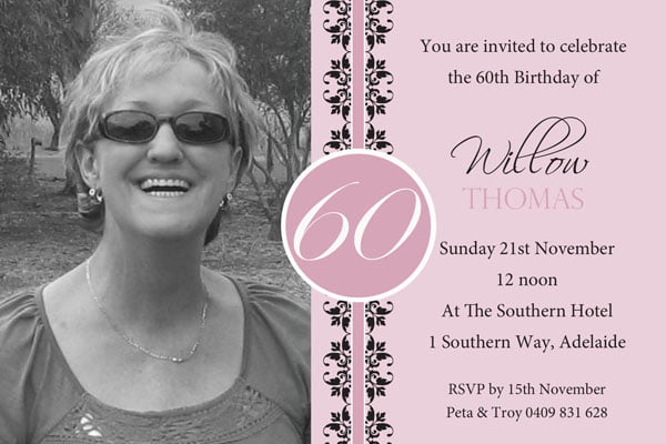 Invitations 60Th Birthday for nice invitation example