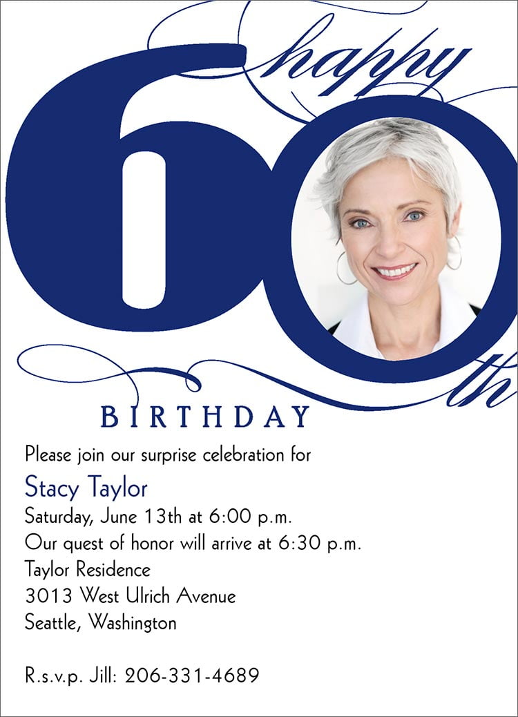 60th birthday party invitations wording – Bagvania FREE Printable ...
