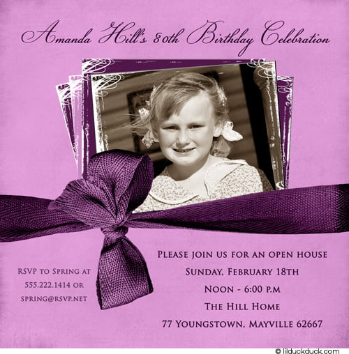 80th Birthday Party Invitations For Woman FREE Printable Birthday