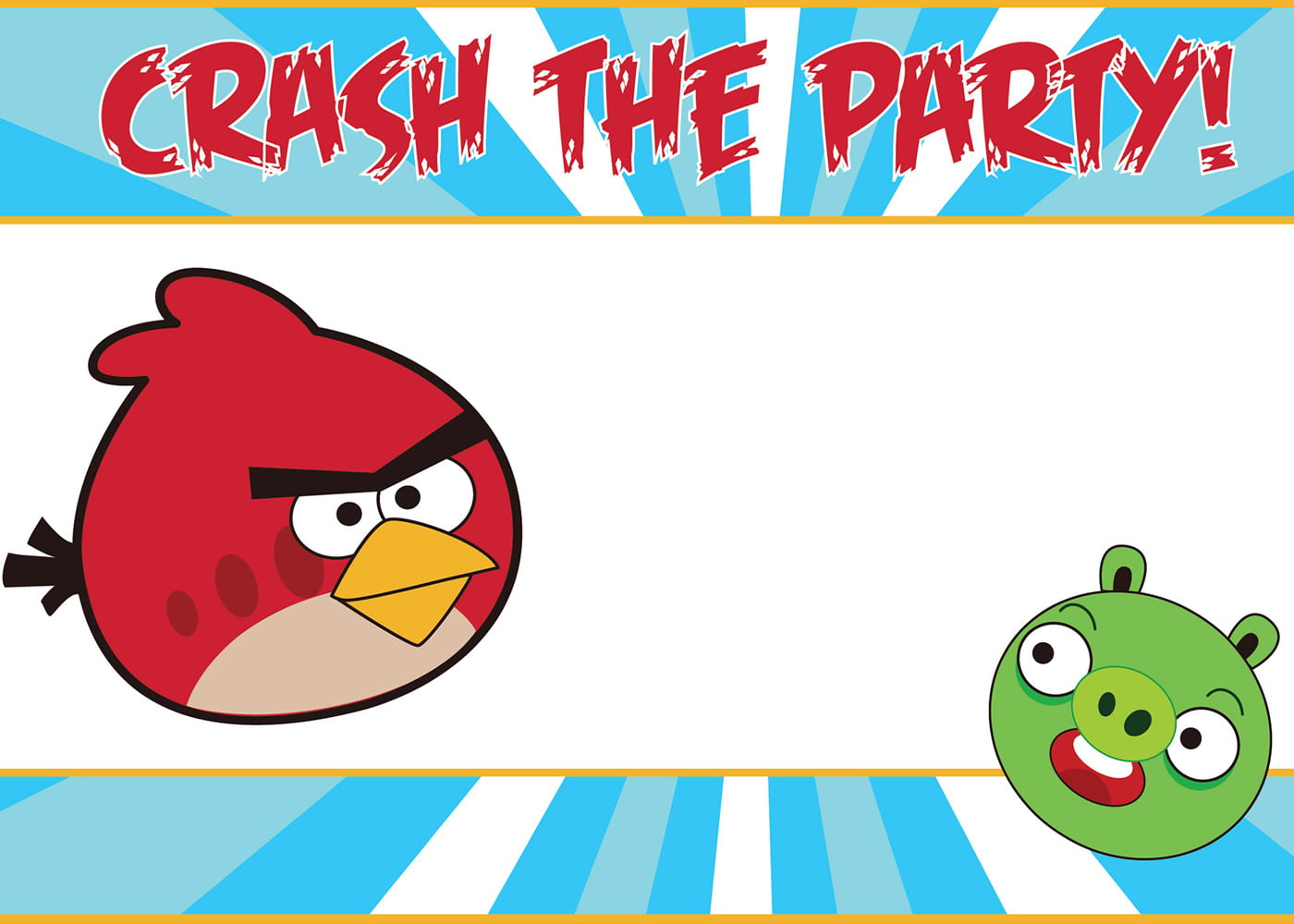 Angry Birds Printable Birthday Party Invitations