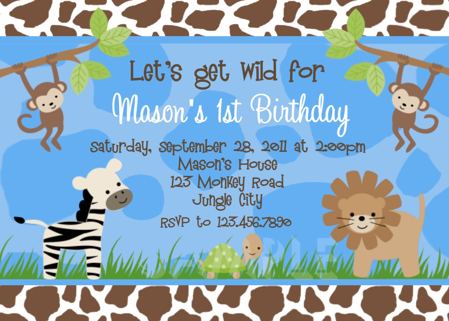 Cute Animals Boy Ideas Free Printable Birthday Invitation
