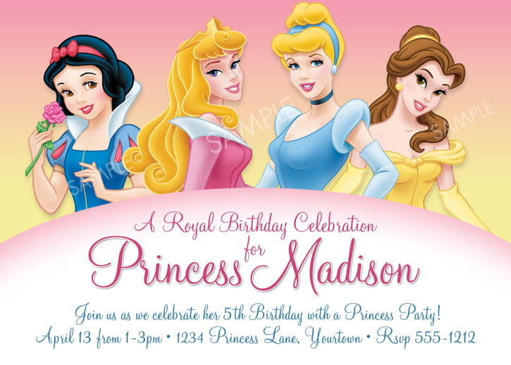 Disney Princess for Girl Birthday Invitations Ideas Bagvania FREE