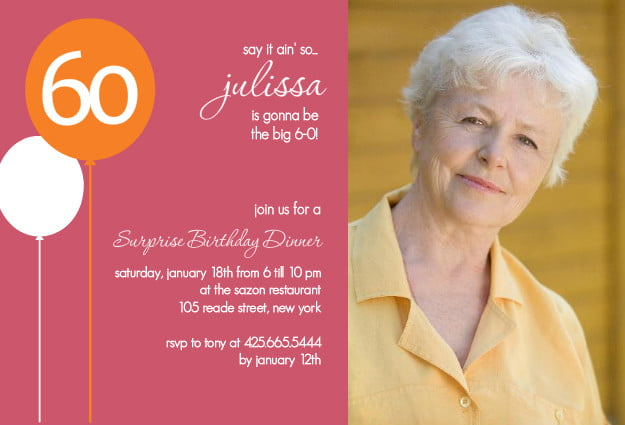 Sixty Birthday Invitations with great invitation example