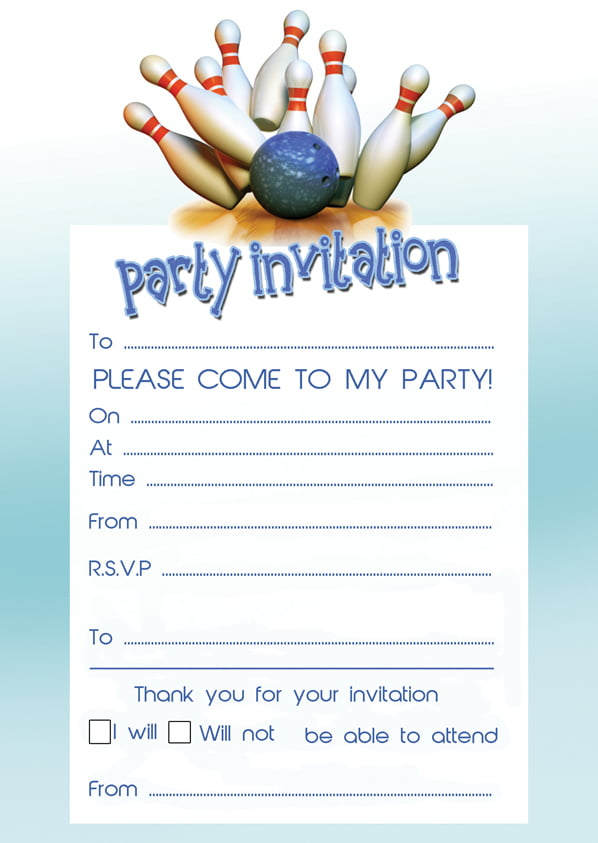 Bowling Birthday Party Invitations ideas Bagvania FREE Printable – Invitations Birthday Party Free Printable