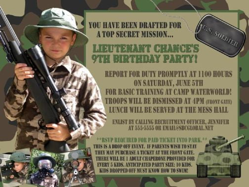 Camo Birthday Invitations Ideas Bagvania FREE Printable Invitation