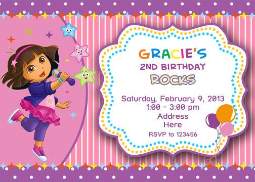dora explorer birthday invitations ideas – bagvania free printable, Birthday invitations