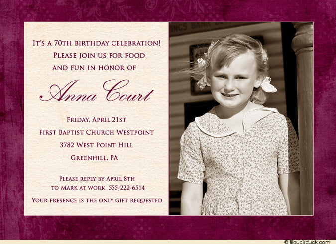 60th birthday invitation wording | wblqual, Birthday invitations