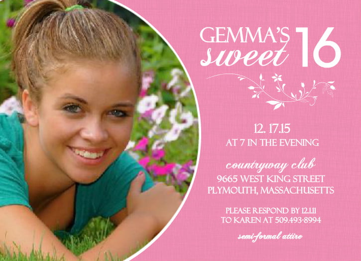 Sweet 16 Birthday Invitations Ideas Bagvania FREE Printable – Birthday Invitations Cards Designs