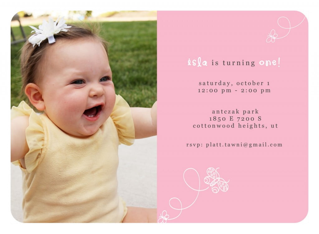 Simple 1st Birthday Invitations Wording Ideas