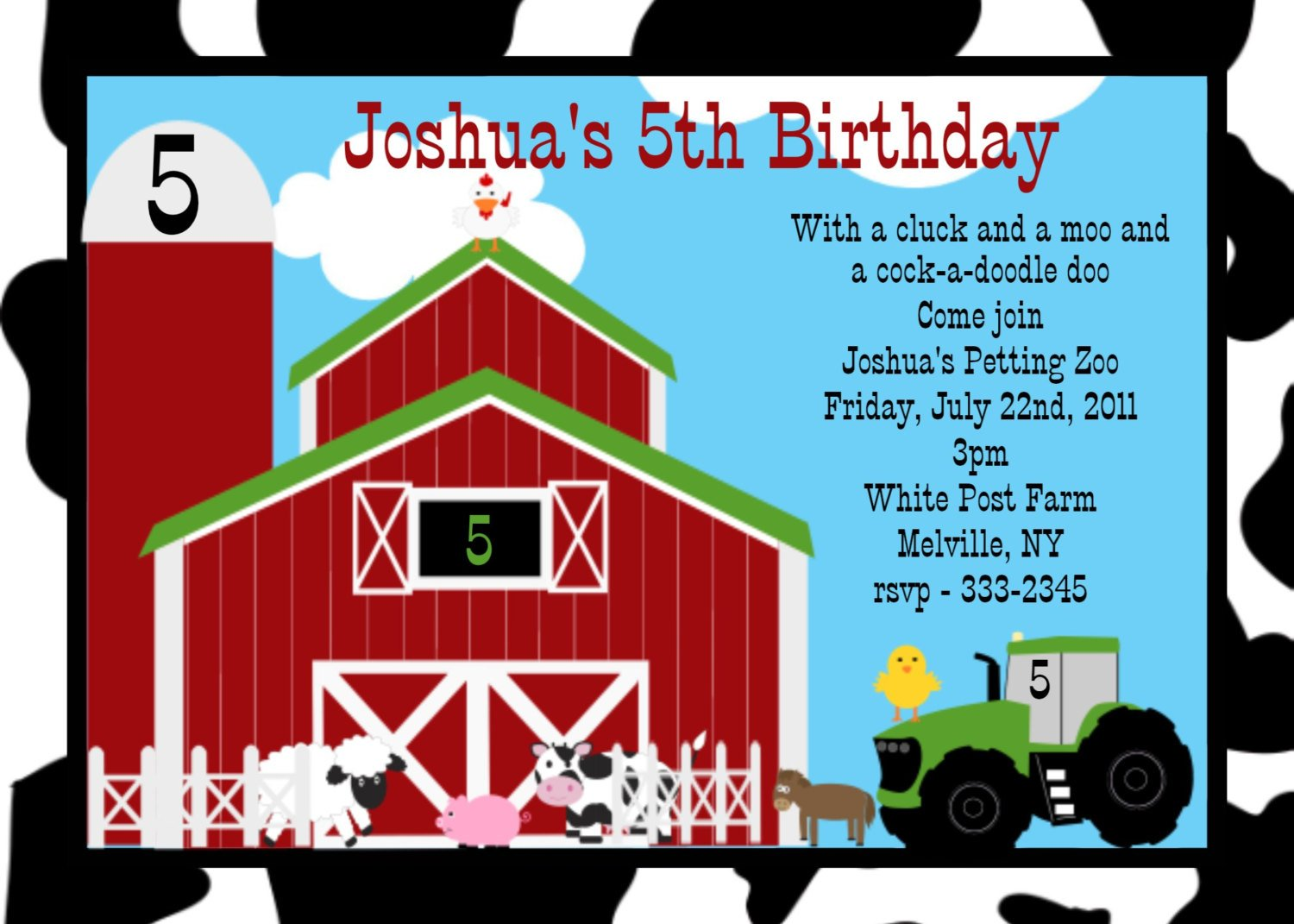 Tractor Farm FREE Printable Birthday Invitation Templates Bagvania
