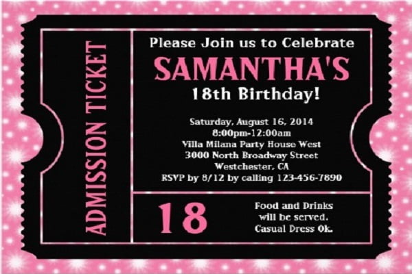 21St Bday Invites for nice invitations template