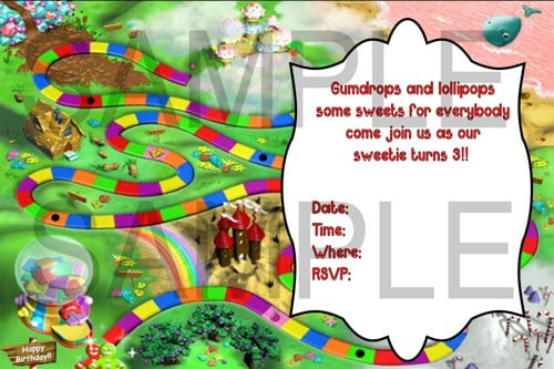 Candyland Birthday Invitations Ideas Bagvania Free Printable Invitation Templates