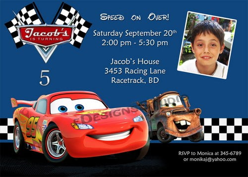 Disney Cars Birthday Invitations Ideas Bagvania FREE Printable – Printable Cars Birthday Invitations
