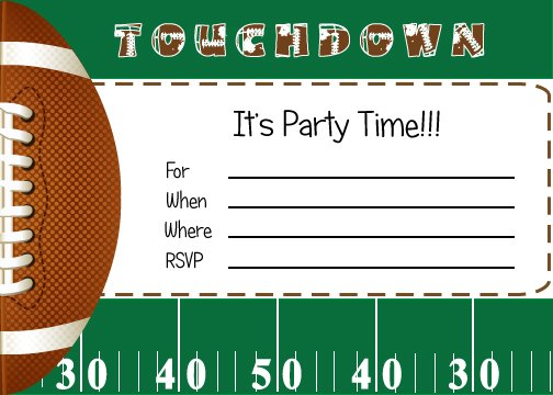football birthday invitations free printable