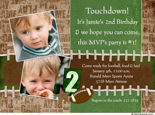 football birthday invitations template