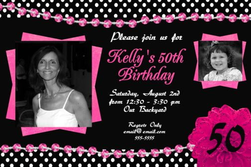 Invitations For 50 Birthday
