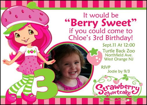 Strawberry Shortcake Birthday Invitations Ideas Bagvania Free