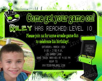 Video game birthday invitations ideas bagvania free printable arcade video game birthday invitations stopboris Choice Image