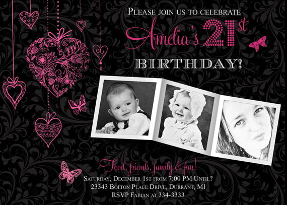 21st Birthday Invitation Ideas – Bagvania FREE Printable Invitation Template