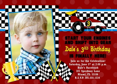 Race Car Birthday Invitations Ideas Bagvania FREE Printable – Free Printable Race Car Birthday Invitations