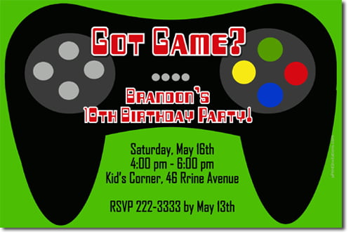 Video game birthday invitations ideas bagvania free printable candy video game birthday invitations stopboris Choice Image