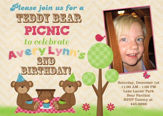 Picnic Birthday Party Invitations Ideas Bagvania FREE Printable – Teddy Bears Picnic Party Invitations