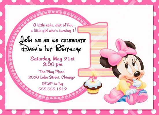 Minnie Mouse Birthday Party Invitations Ideas Bagvania FREE