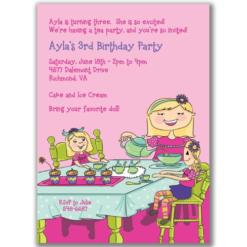 tea party birthday invitations ideas  bagvania invitations ideas, Birthday invitations