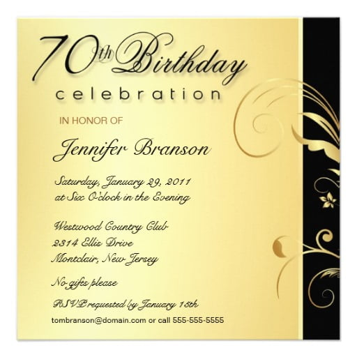 Formal Birthday Invitations Ideas  Bagvania Free Printable