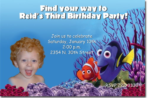Finding Nemo Birthday Invitations FREE Printable