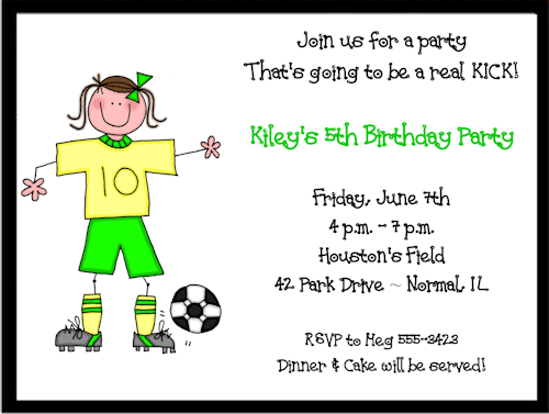 soccer birthday invitations ideas free printable birthday
