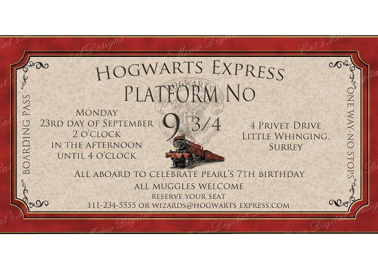 image regarding Free Printable Harry Potter Invitations named Harry Potter Birthday Invites Designs Absolutely free Printable