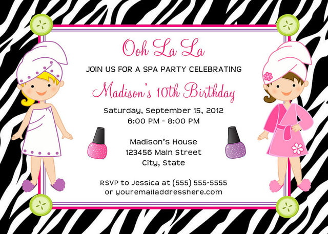 Spa Birthday Party Invitations Ideas Bagvania FREE Printable