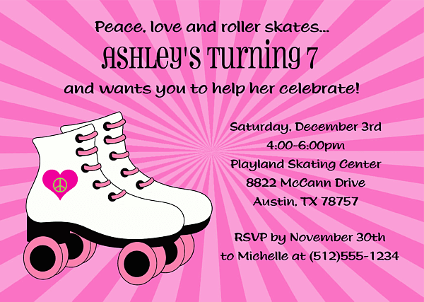 roller skating birthday invitations ideas  bagvania invitations ideas, Birthday invitations