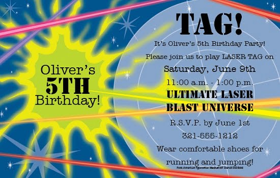 Simple laser tag birthday party invitations bagvania free simple laser tag birthday party invitations filmwisefo