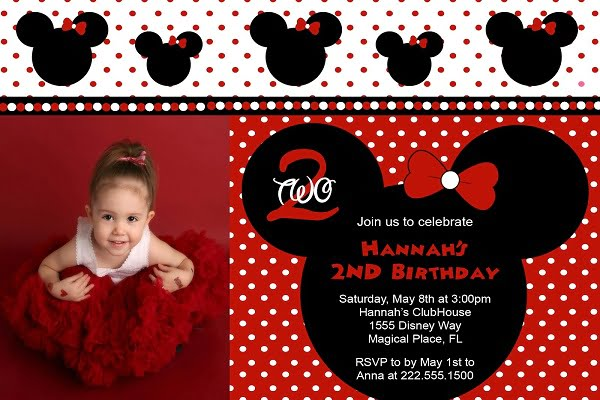 Red Minnie Mouse Birthday Invitations Ideas Bagvania FREE