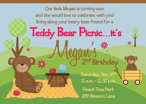 Picnic Birthday Party Invitations Ideas – Bagvania Free Printable