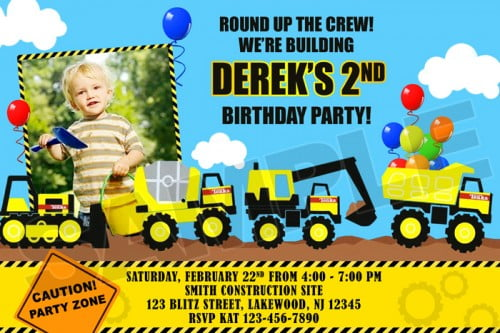 photograph relating to Free Printable Construction Birthday Invitations called Tonka framework birthday occasion invites Absolutely free