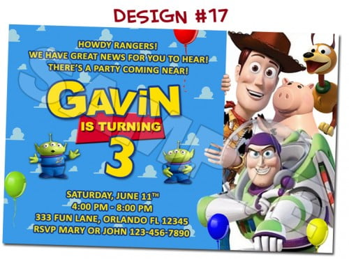 Toy story buzz lightyear birthday invitations ideas