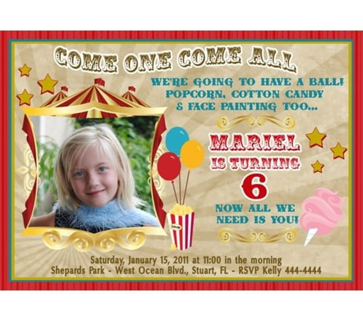 carnival birthday party invitations ideas  bagvania invitations ideas, Birthday invitations