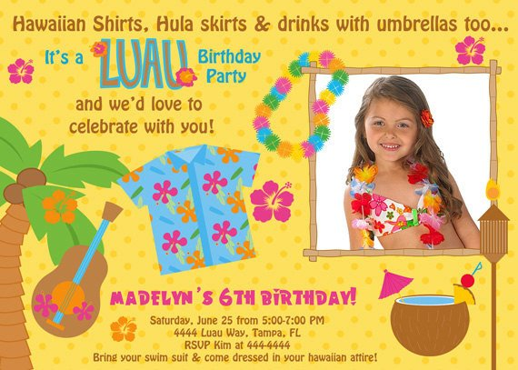 hawaiian birthday invitations ideas  bagvania invitations ideas, Birthday invitations