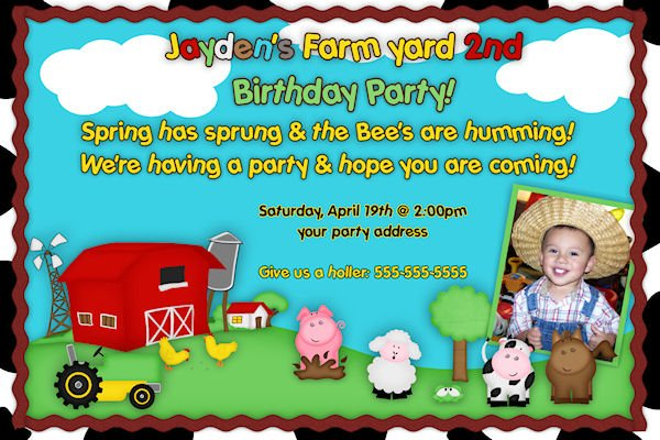 Barnyard Birthday Invitations Ideas Free Printable Birthday